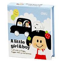 Блокноты в твердых обложках Deli 7703 68х73 140л  детский