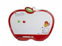 """Доски детские для рисования Deli 7809Е 30х40 """"Яблоко"""" с маркером, цветн рамка"""