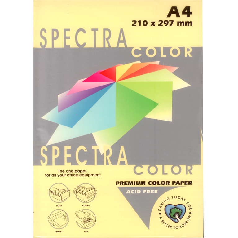 """Бумага пастельных тонов Spectra_Color 115 светло-желтый А4 80гр 500л """"Spectra_Color"""" паст Canary"""
