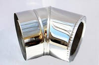 Колено для дымохода 45° утеплённое, нерж\нерж., 120/180 мм (сталь 0,8 мм) AISI304