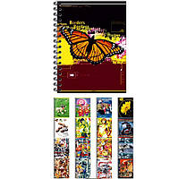 Блокнот на спирали в твердой обложке Графика 6280ТА клетка А6 80л бок/спир карт/обл