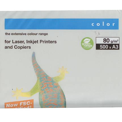 "Бумага средних тонов Mondi GR21 серый А3 80гр 500л ""1Q_Color"" сред серый, фото 2"