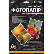 Фотобумага для принтера Leo 720118 A4 180г/кв.м, 20л, матов L3734