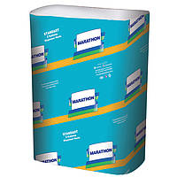 Полотенца бумажные Marathon 32660330 белый макулатурный Standart ZZ 1-но слойн. 250лист.