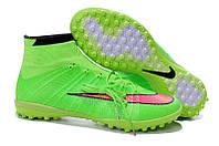 2015 Ni2015 Nike Elastico Superfly IC Turf green-pink салатовые ke Elastico Superfly IC Turf green-pink