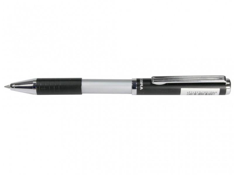 Ручка в эксклюзивном футляре Zebra SL-F1 синий РШ металлическая Slide 0,7 в футляре черная