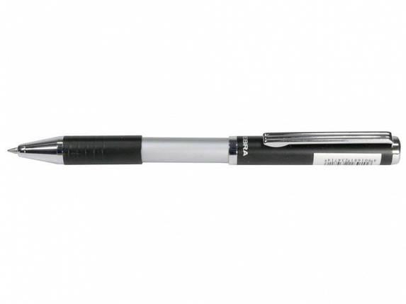 Ручка в эксклюзивном футляре Zebra SL-F1 синий РШ металлическая Slide 0,7 в футляре черная, фото 2