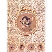Бумага для декупажа Cheap Art 69301677 21*29,7см, 45г/м2 Ангел с флейтой