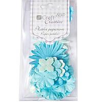 Цветы Dalprint 9ACRE0003 голубой 36шт бумажные
