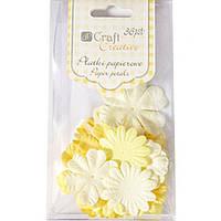 Цветы Dalprint 9ACRE0002 желто-красный 36шт бумажные