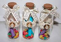 Бутылочка пожеланий 12 шт «Послание в бутылке»