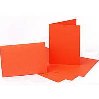 Набор заготовок для открыток Fabriano 94099062 оранжевый 5шт, 10,3х7cм, №13,220г/м2,