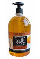 Гель для душа Miss Sandy с дозатором молоко и мед 1 л