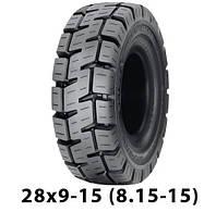 Шина цільнолита 28x9-15 (8.15-15)    Marangoni EVO шина цельнолитая