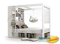 VOX PL- 4You Кровать с шкафом библиотечным и балдахином