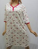 Ночная сорочка, ночнушка, рубашка женская 3/4 рукав хлопковая, Харьков