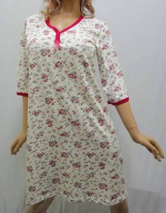 Ночная сорочка, ночнушка, рубашка женская 3/4 рукав хлопковая, Харьков, фото 2