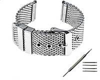 Браслет для часов из нержавеющей стали, миланский стиль. 22-й размер.