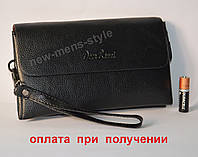 Мужская кожаная барсетка кошелек портмоне клатч гаманець Deer Banni