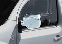 Renault Kangoo 2008+ и 2013+ гг. Накладки на зеркала 2008-2013 (2 шт) Carmos - Хромированный пластик