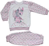 Пижама теплая для девочек, в капельку с девочкой в маске понни, рост 86 см, Ля-ля