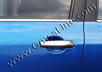 Peugeot 307 2001+ Накладки на ручки (нерж) 4 шт, Carmos - Турецкая сталь