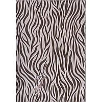 """Записная книжка Бриск ЗВ-93 клетка А5 120л на резинке Skill (черно-белый) обл-искуст.кожа """"Zebra"""" белый блок 70г/м2"""