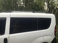 Opel Combo 2012+ гг. Рейлинги Черные Короткая, Чугунные ножки