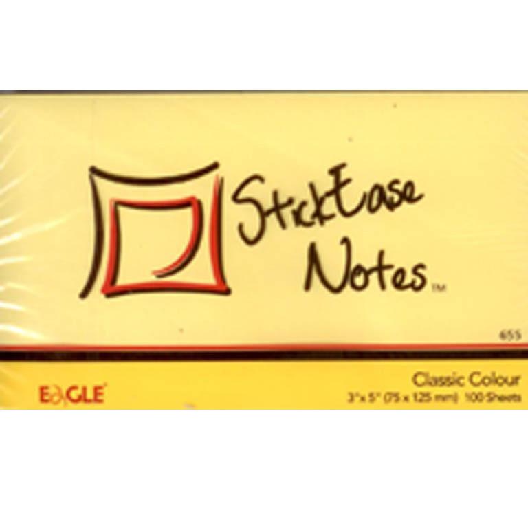 Блок бумажный самоклеющиеся Eagle 655Y желтый 75х125мм 100шт