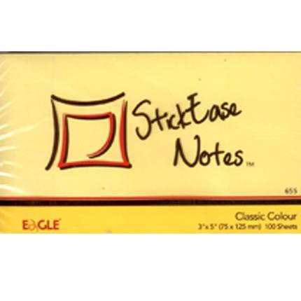 Блок бумажный самоклеющиеся Eagle 655Y желтый 75х125мм 100шт, фото 2