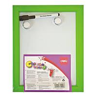 Доски детские для рисования Deli 39900 22х28 цветн пластик рамка + маркер+ 2 магн