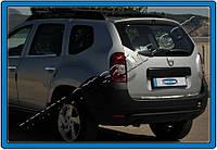 Renault Duster 2008+ гг. Кромка багажника (нерж.) OmsaLine - Итальянская нержавейка