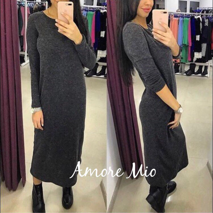 Женское модное ангоровое платье. Лу-58-0117
