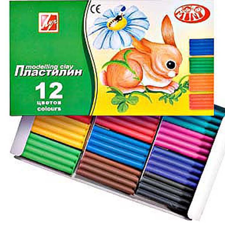 "Пластилин детский Луч 19С1272-08 12цветов 162гр. ""Зоо""(""Мини"")"