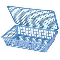 Лотки для документов горизонтальные Deli 924 голубой А4 лоток сетка с кришкой