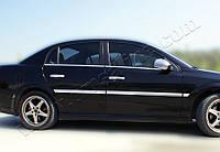 Opel Vectra C 2004+ гг. Наружняя окантовка стекол (4 шт, нерж) Carmos - Турецкая сталь