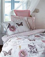 Постельное белье Karaca Home Birdy розовое евро