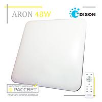 Светодиодный светильник ARON S-1602 48W с пультом дистанционного управления (квадрат типа Saturn) 4100Lm