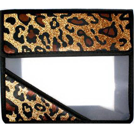 "Папка для труда J_Otten PA4-7100 коричневый А4 пласт.проз+ткан на липуч ""Тигр"", фото 2"