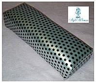 Подставка подлокотник для маникюра подушка из кожзама серебро в горошек