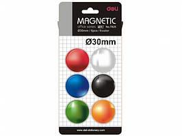 Набор магнитов Deli 7825Е 6 штук, d=30 мм