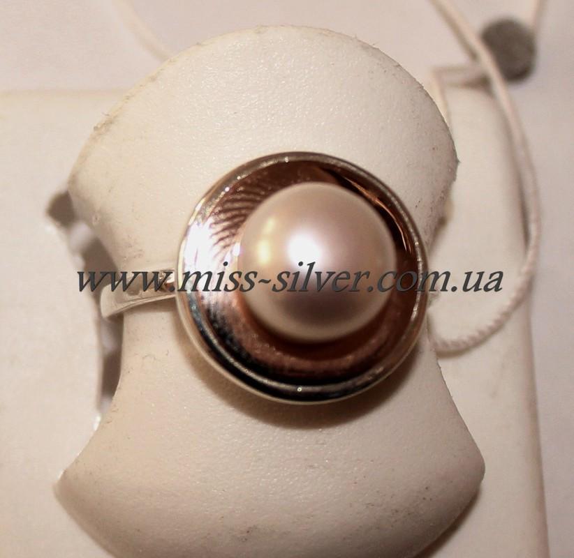 Кольцо с золотом и жемчугом Венера