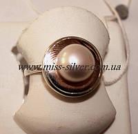 Кольцо с золотом и жемчугом Венера, фото 1