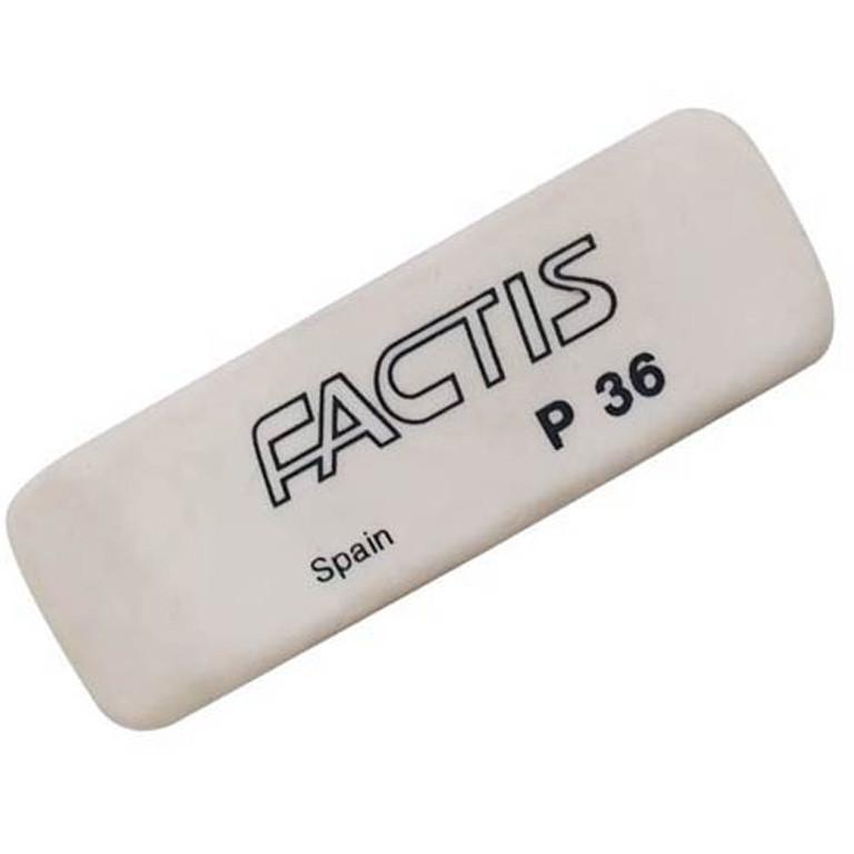 Ластик Factis 36P белый клиновид 52х19,5х9мм (пластик)