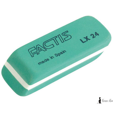 Ластик Factis 24LX зеленый клиновид 54,5х20х12мм латекс (пласт), фото 2