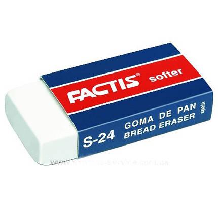 Ластик Factis 24S белый прямоуг 50х23,5х9,5 чертежный, фото 2