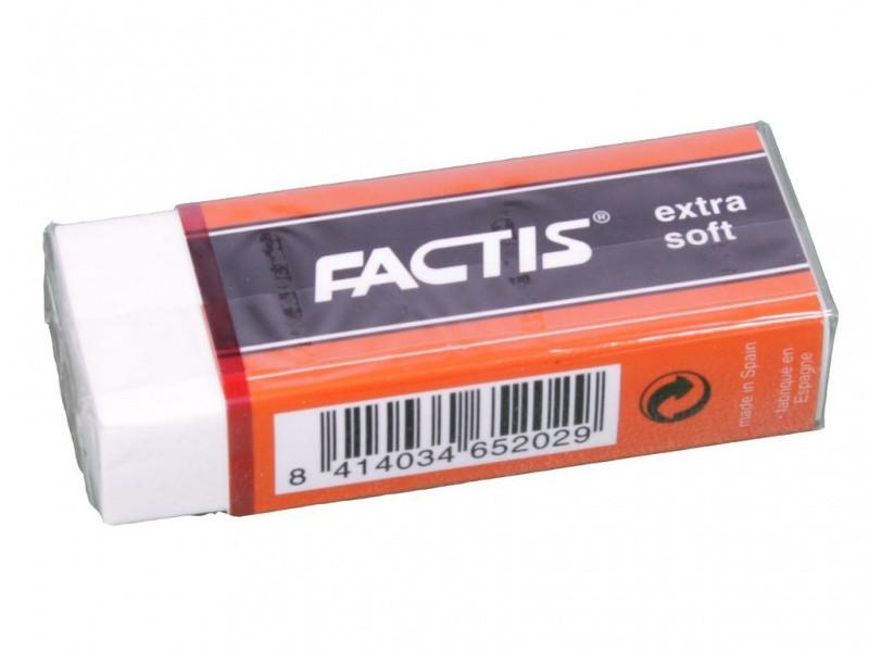 Ластик Factis 20ES белый прямоуг 28х60х13мм супер мягкий
