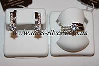 Комплект ювелирных изделий из серебра и золота Твинс