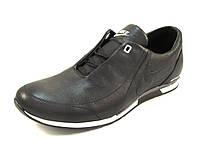 Кроссовки мужские NIKE кожаные, черные (найк)(р.40,41,43,44,45)