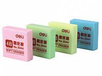 Ластики Deli 3044 микс квадрат 35х35х11мм супер мягкий в защитн уп.